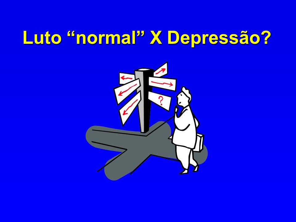 Luto normal X Depressão?