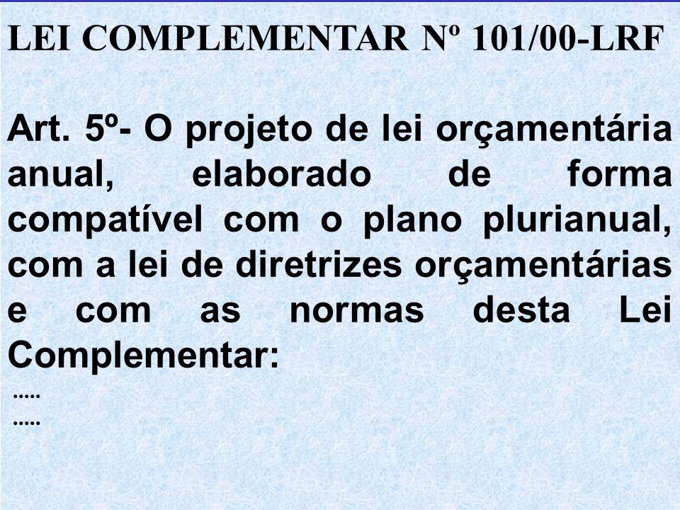 LEI COMPLEMENTAR Nº 101/00-LRF Art.