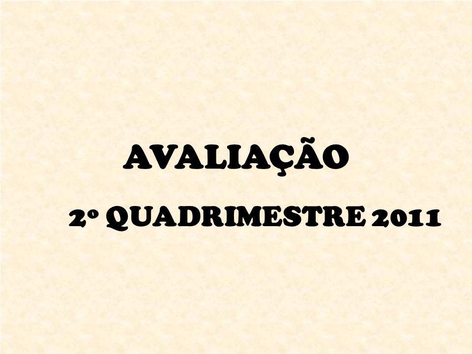 AVALIAÇÃO 2º QUADRIMESTRE 2011