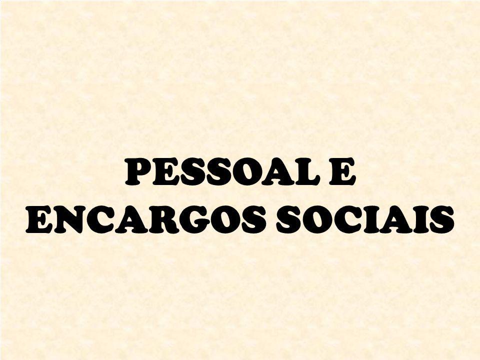 PESSOAL E ENCARGOS SOCIAIS
