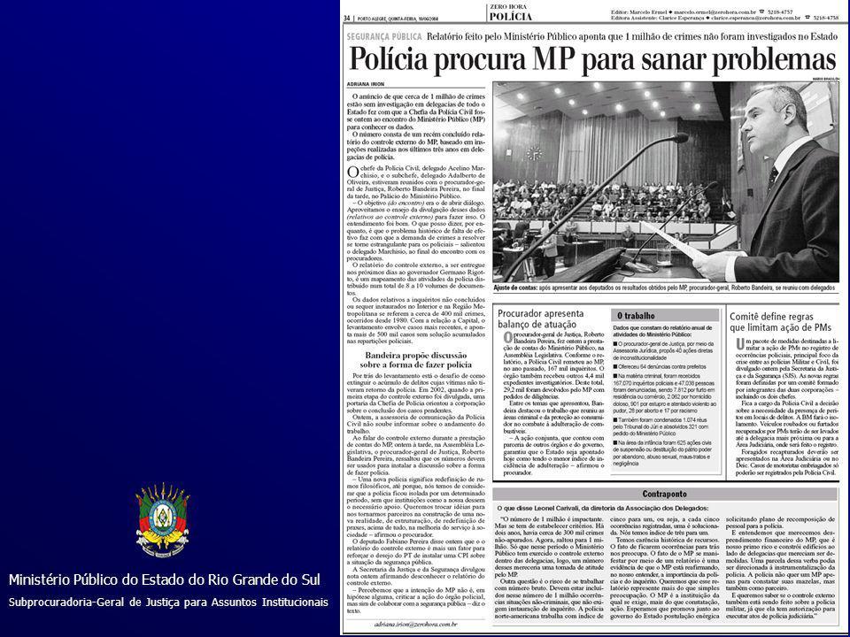 Ministério Público do Estado do Rio Grande do Sul Subprocuradoria-Geral de Justiça para Assuntos Institucionais