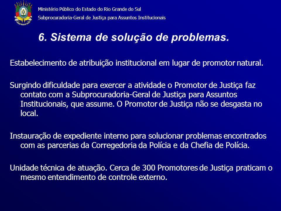 Ministério Público do Estado do Rio Grande do Sul Subprocuradoria-Geral de Justiça para Assuntos Institucionais 6.