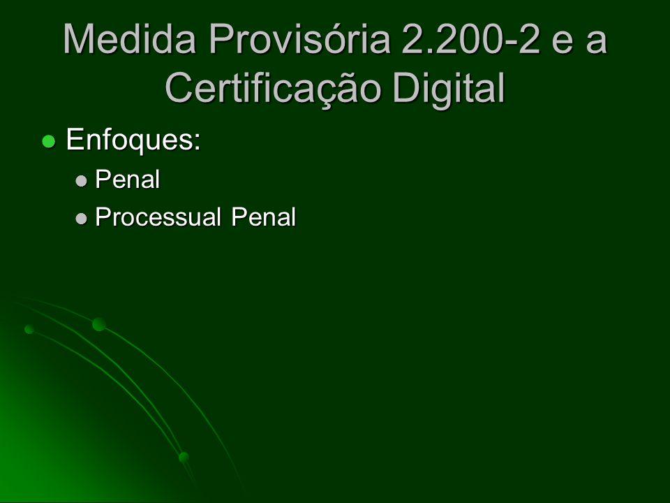 Medida Provisória 2.200-2 e a Certificação Digital Conceitos: Doutrinário x Legal Conceitos: Doutrinário x Legal