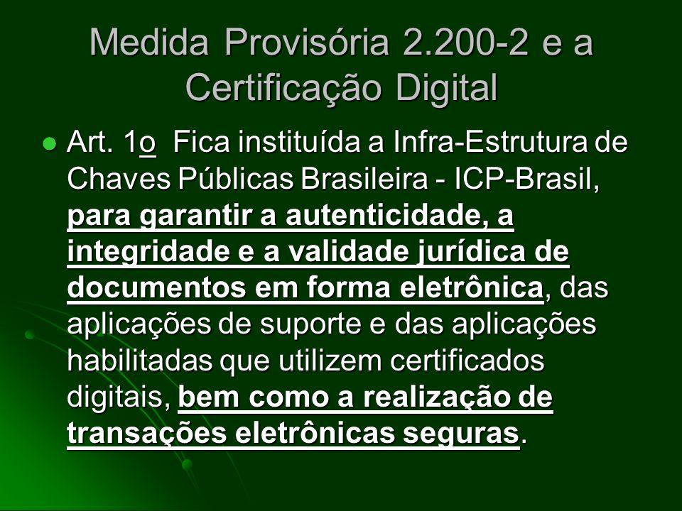 Medida Provisória 2.200-2 e a Certificação Digital Enfoques: Enfoques: Penal Penal Processual Penal Processual Penal