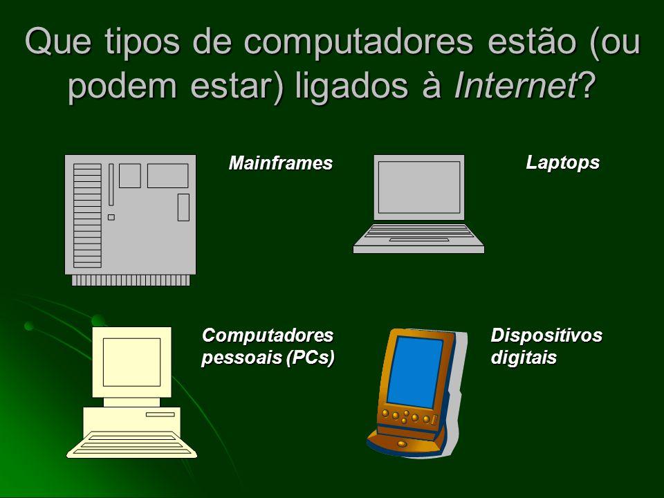 O que uma Internet? Uma Internet Uma Internet uma grande rede composta de pequenas redes de computadores (interconnected networks – redes interconecta