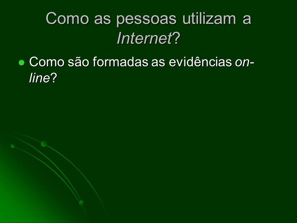 Por que o endereço é importante? A Internet é uma rede de comutação por pacote A Internet é uma rede de comutação por pacote As partes componentes da