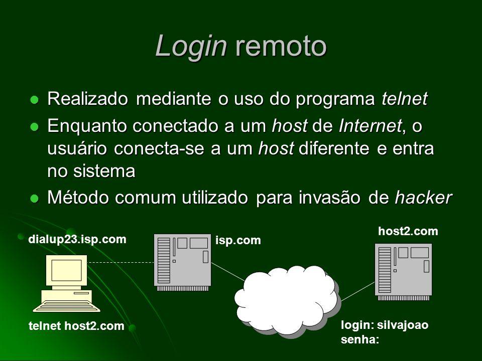 Coleta de evidência em potencial: rastreamento regressivo Hipótese: o usuário está lendo e-mail num serviço de e-mail baseado na Web (por exemplo hotmail) Hipótese: o usuário está lendo e-mail num serviço de e-mail baseado na Web (por exemplo hotmail) Podemos utilizar um rastreador (instalado no servidor) para identificar o endereço de IP do visitante Podemos utilizar um rastreador (instalado no servidor) para identificar o endereço de IP do visitante