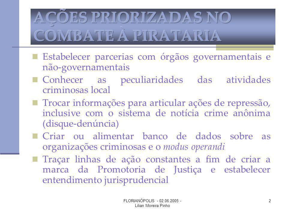 FLORIANÓPOLIS - 02.06.2005 - Lilian Moreira Pinho 2 Estabelecer parcerias com órgãos governamentais e não-governamentais Conhecer as peculiaridades da