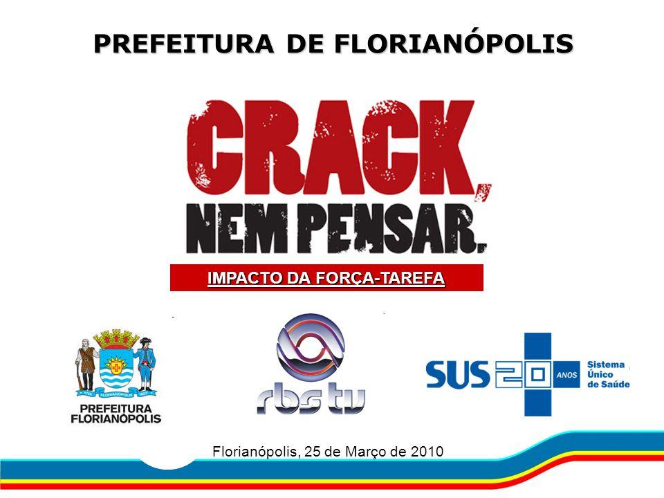 PREFEITURA DE FLORIANÓPOLIS Florianópolis, 25 de Março de 2010 IMPACTO DA FORÇA-TAREFA