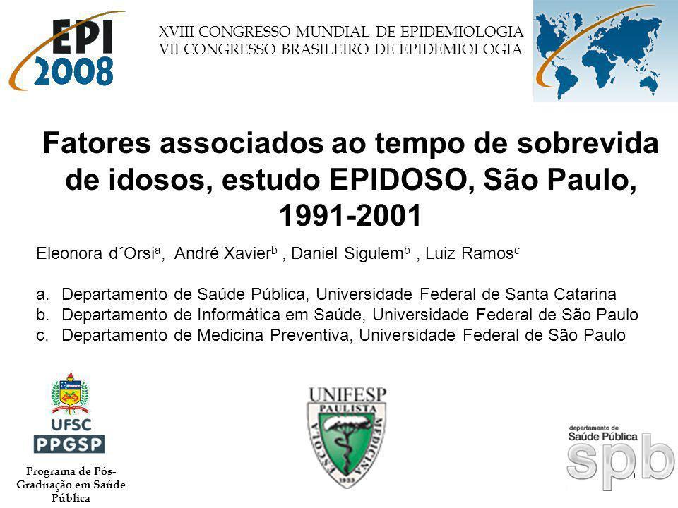 1 Eleonora d´Orsi a, André Xavier b, Daniel Sigulem b, Luiz Ramos c a.Departamento de Saúde Pública, Universidade Federal de Santa Catarina b.Departam
