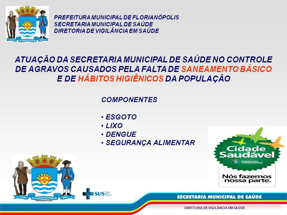 DIRETORIA DE VIGILÂNCIA EM SAÚDE AS AÇÕES DE CONTROLE FISCALIZAÇÃO – Monitoramento das Estações de Tratamento de Esgotos (ETE) e de Água (ETA) da CASAN.