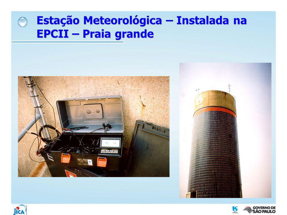 Estação Meteorológica – Instalada na EPCII – Praia grande