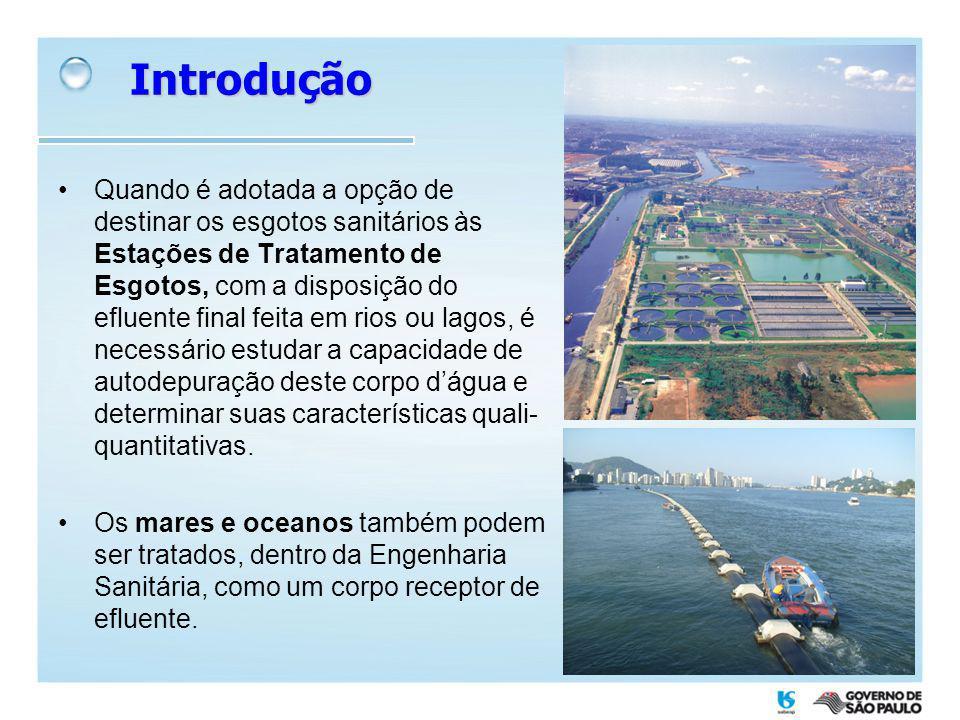 Portanto, emissários submarino é uma eficiente alternativa para o destino final de efluentes sanitários, em virtude da elevada capacidade de dispersão e depuração da matéria orgânica no ambiente marinho.