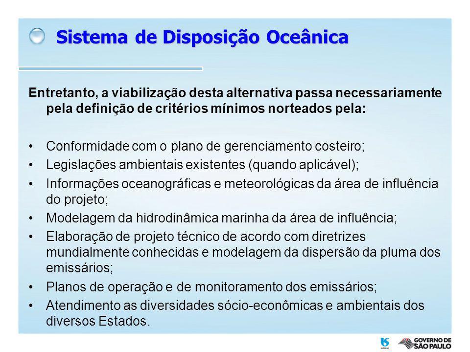Quantidade de ETE: 389 unCapacidade instalada: 34,3 m 3 /s Lagoas (65%) Fossa-filtro (19%) Lodos ativados (10%) Emissários (2%) Lodos ativados 20,9 m 3 /s (61%) Emissários (22%) Lagoas (15%) Fossa-filtro e outros (2%) Capacidade dos SDO das SABESP Litoral paulista 8 SDO em operação Q nom.
