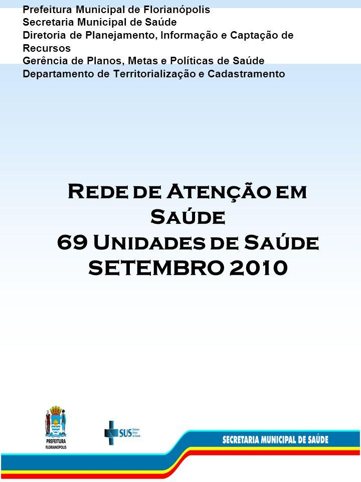 Prefeitura Municipal de Florianópolis Secretaria Municipal de Saúde Diretoria de Planejamento, Informação e Captação de Recursos Gerência de Planos, M
