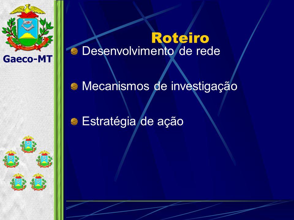 Gaeco-MT Desenvolvimento de rede