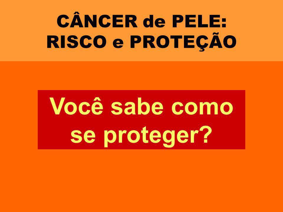 CÂNCER de PELE: RISCO e PROTEÇÃO Você sabe como se proteger?