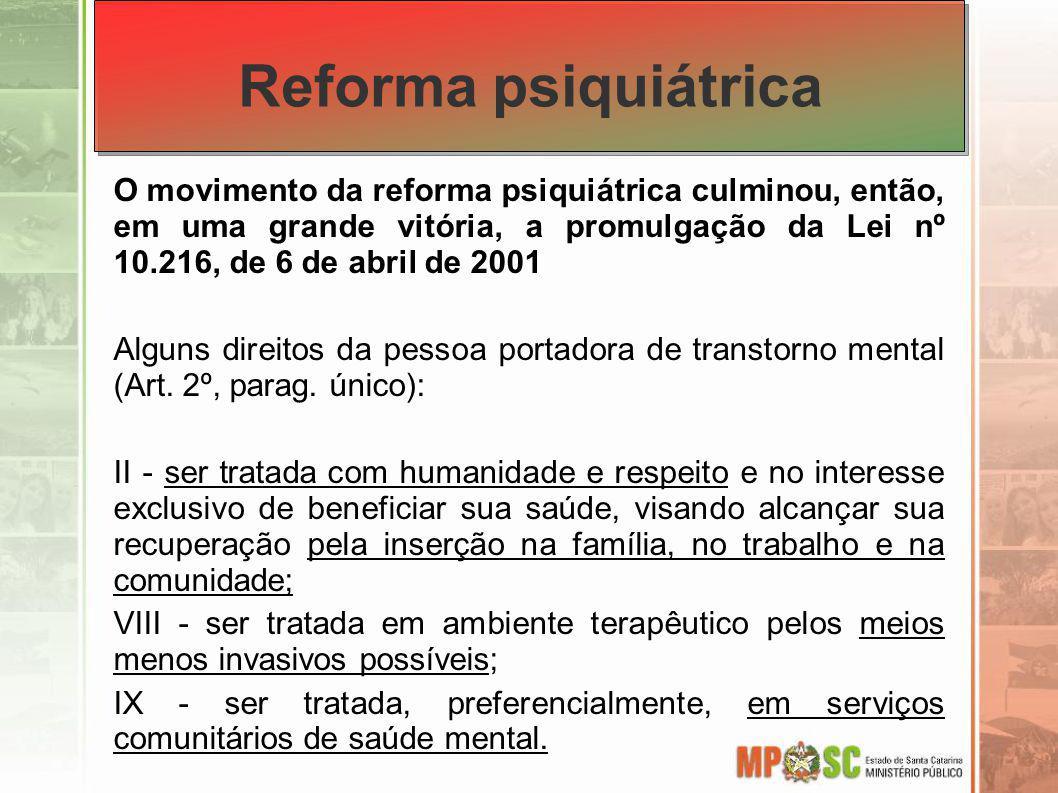 Lei da Reforma Psiquiátrica Art.