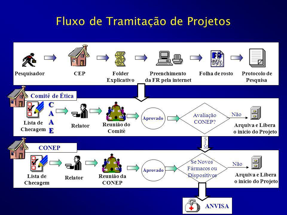 CONEP Pesquisador CEP Folder Explicativo Preenchimento da FR pela internet Folha de rosto Protocolo de Pesquisa Comitê de Ética Relator Reunião do Com