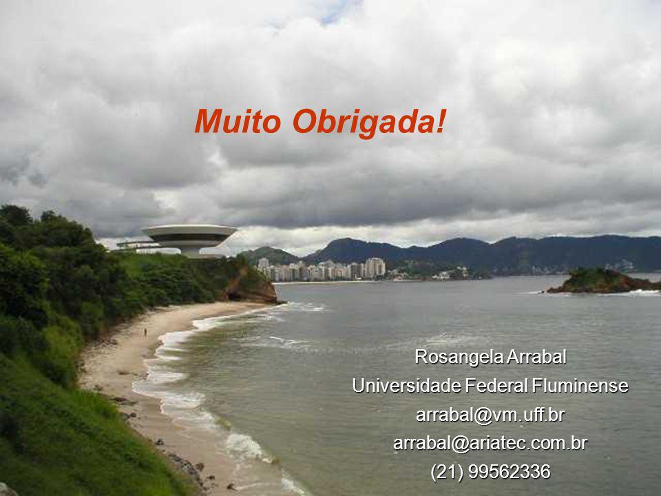 Muito Obrigada! Rosangela Arrabal Universidade Federal Fluminense arrabal@vm.uff.brarrabal@ariatec.com.br (21) 99562336