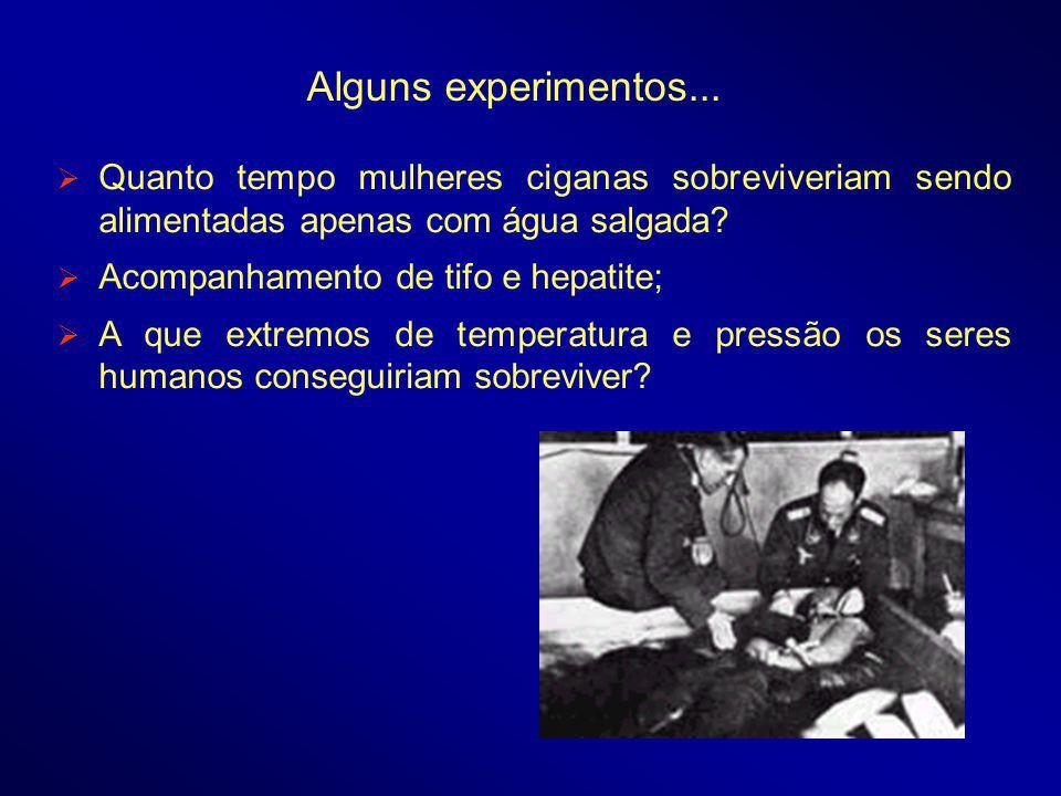 Quanto tempo mulheres ciganas sobreviveriam sendo alimentadas apenas com água salgada.