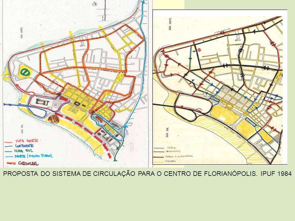 PROPOSTA DO SISTEMA DE CIRCULAÇÃO PARA O CENTRO DE FLORIANÓPOLIS. IPUF 1984