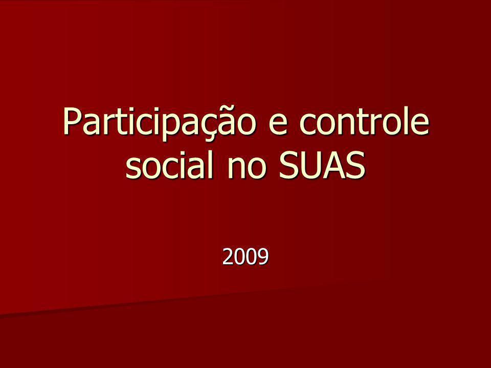 2009 Participação e controle social no SUAS