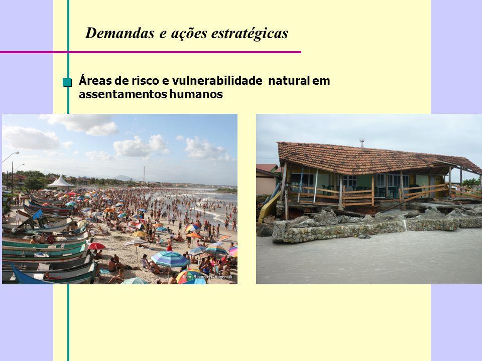 Demandas e ações estratégicas Áreas de risco e vulnerabilidade natural em assentamentos humanos