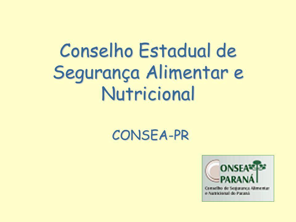 Conselho Estadual de Segurança Alimentar e Nutricional CONSEA-PR