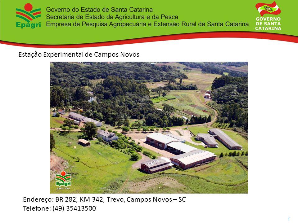 Governo do Estado de Santa Catarina Secretaria de Estado da Agricultura e da Pesca Empresa de Pesquisa Agropecuária e Extensão Rural de Santa Catarina