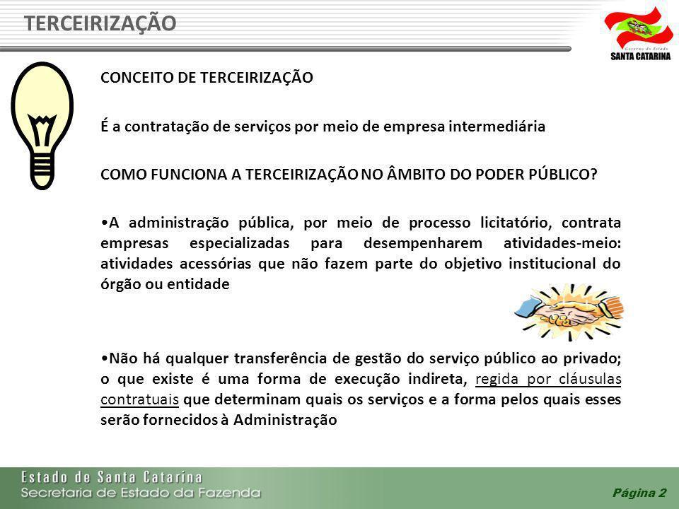 Check- list DescriçãoSimNão O número de terceirizados, por posto de serviço, coincide com o previsto no contrato.