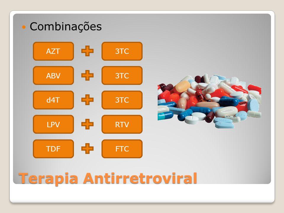 Terapia Antirretroviral Combinações AZT3TC ABV3TC d4T3TC LPVRTV TDFFTC