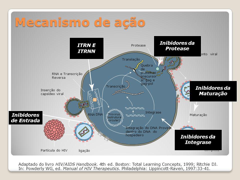 Tratamento Antirretroviral Objetivos: Controle da replicação viral Preservar ou restaurar a integridade do sistema imune Retardar ou diminuir as conseqüências da infecção Tempo e Qualidade de Vida
