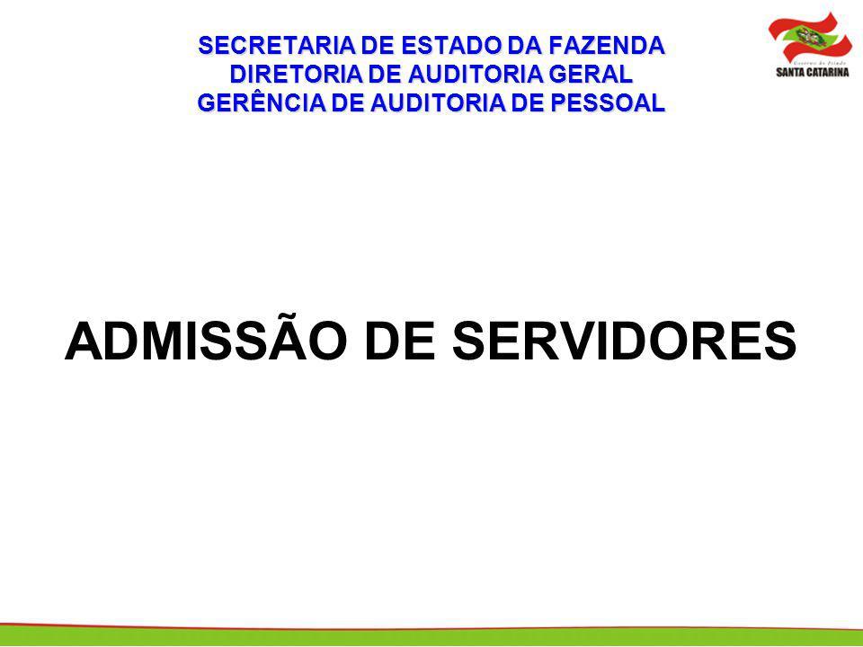 ADMISSÃO DE SERVIDORES