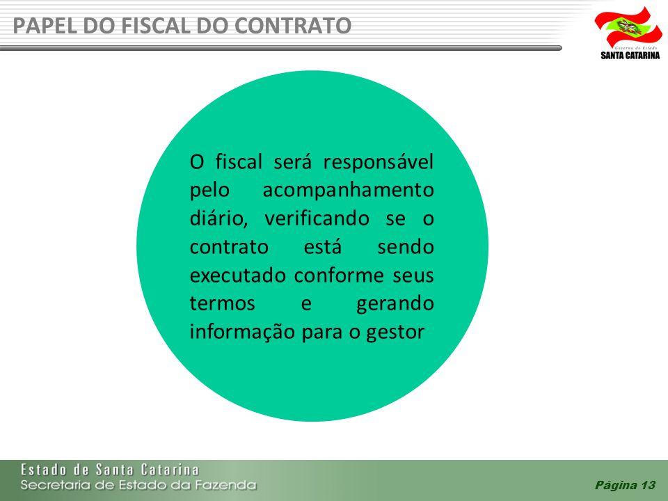 O fiscal será responsável pelo acompanhamento diário, verificando se o contrato está sendo executado conforme seus termos e gerando informação para o