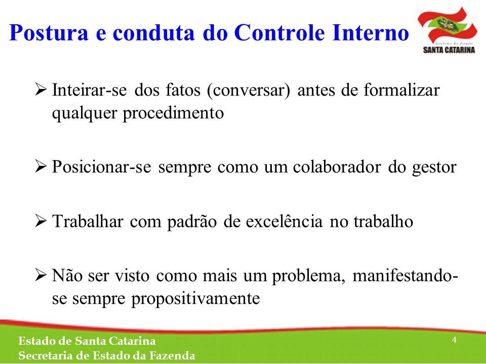 TOMADA DE CONTAS ESPECIAL Lei Complementar nº 202/2000 Lei Complementar Estadual nº 381/2007 Decreto Estadual nº 1.886/2013 Instrução Normativa do TCE nº 13/2012 Estado de Santa Catarina Secretaria de Estado da Fazenda 5