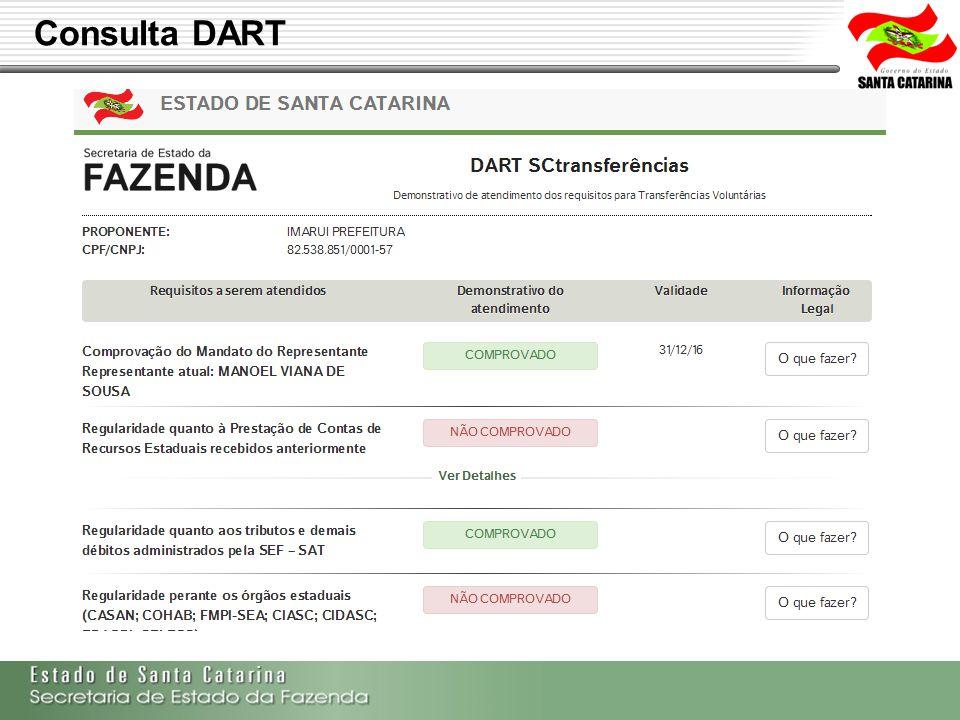 Secretaria de Estado da Fazenda de Santa Catarina – SEF/SC Indra Politec Consulta DART
