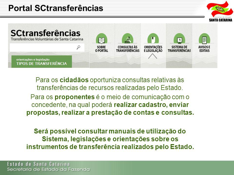 Secretaria de Estado da Fazenda de Santa Catarina – SEF/SC Indra Politec Para os cidadãos oportuniza consultas relativas às transferências de recursos