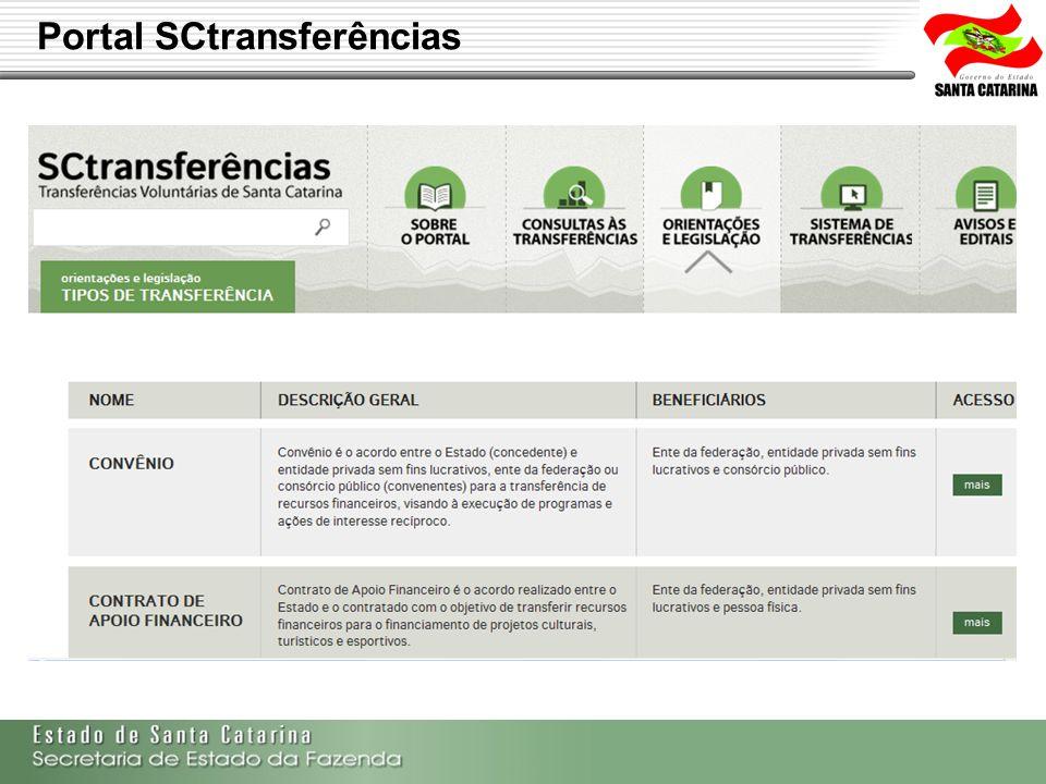 Secretaria de Estado da Fazenda de Santa Catarina – SEF/SC Indra Politec Portal SCtransferências