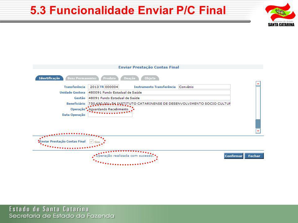 5.4 Documentos a serem enviados com a P/C Final Art.