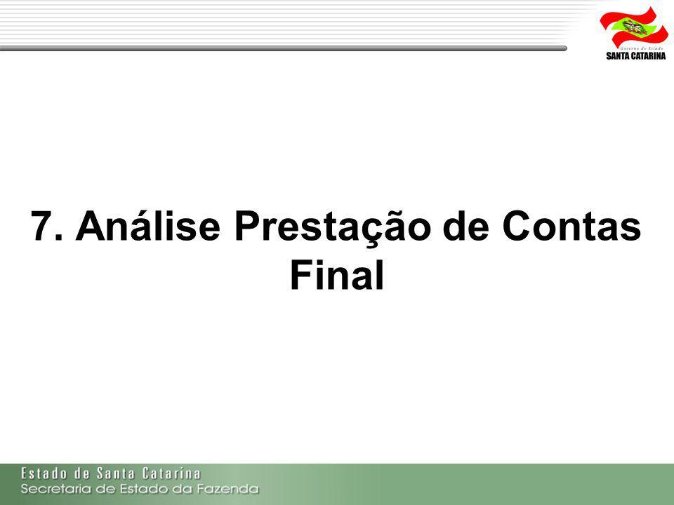 7. Análise Prestação de Contas Final