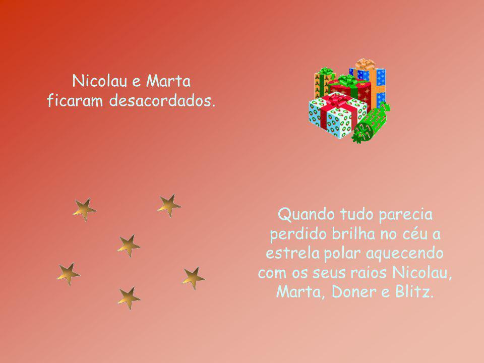 Nicolau e Marta ficaram desacordados. Quando tudo parecia perdido brilha no céu a estrela polar aquecendo com os seus raios Nicolau, Marta, Doner e Bl