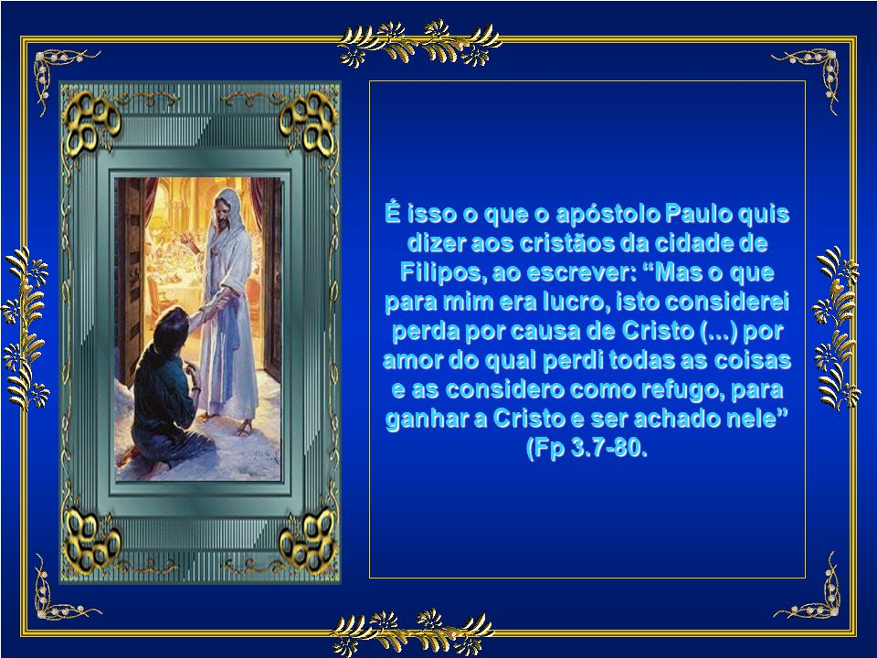 No plano espiritual também é assim: coisas próprias do velho homem não podem continuar com ele na nova vida oferecida por Jesus; precisam ser deixadas para trás.