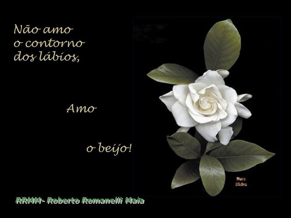 Não amo o contorno dos lábios, Amo o beijo! RRMM- Roberto Romanelli Maia