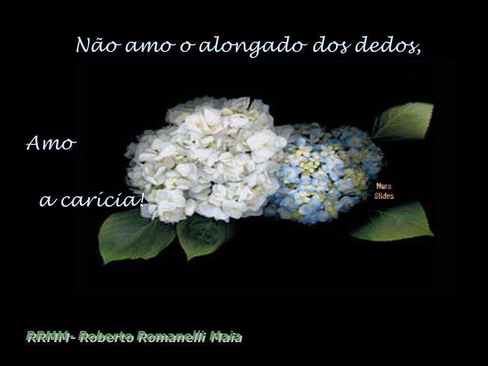 Não amo o alongado dos dedos, Amo RRMM- Roberto Romanelli Maia a carícia!