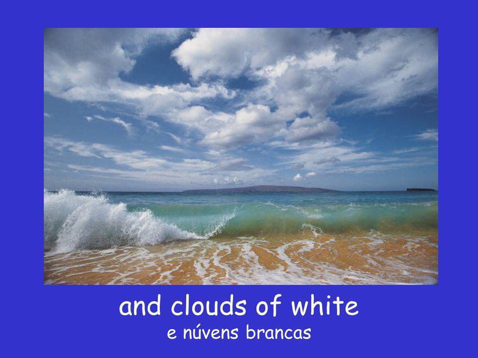 I see skies of blue Eu vejo céus azuis
