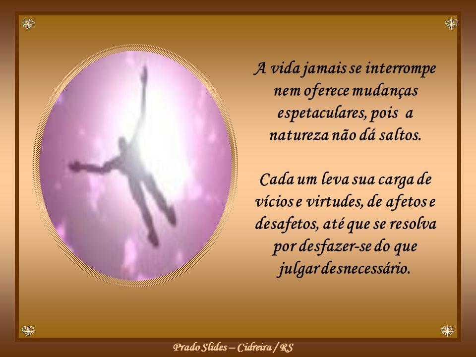 Prado Slides – Cidreira / RS A vida jamais se interrompe nem oferece mudanças espetaculares, pois a natureza não dá saltos.