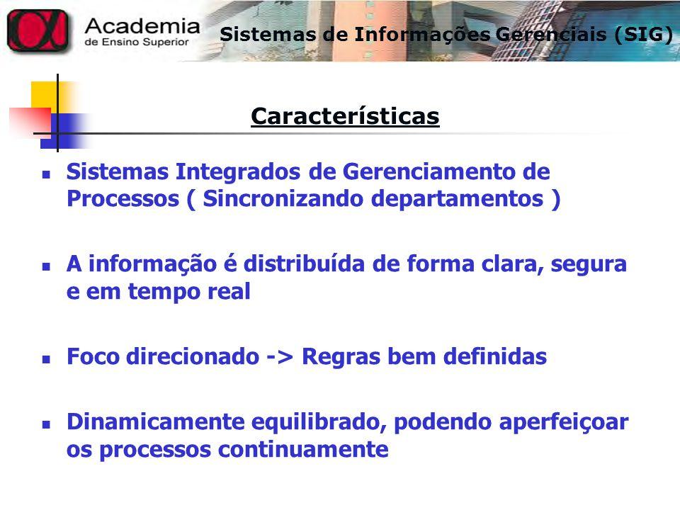 Sistemas Integrados de Gerenciamento de Processos ( Sincronizando departamentos ) A informação é distribuída de forma clara, segura e em tempo real Fo
