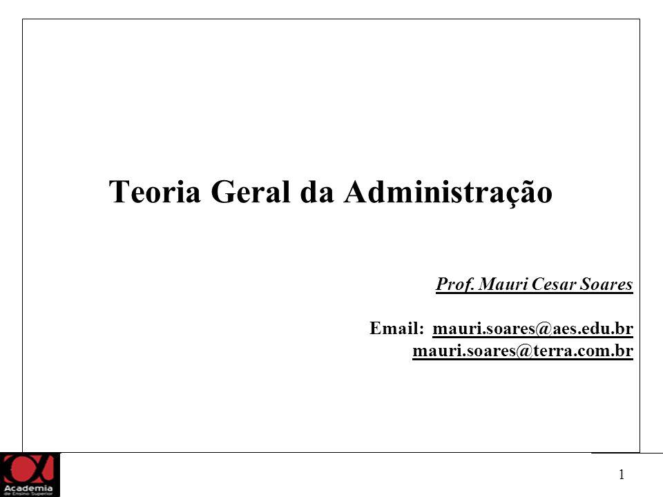 1 Teoria Geral da Administração Prof.