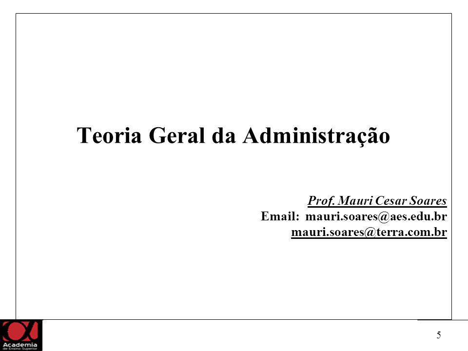 5 Teoria Geral da Administração Prof.